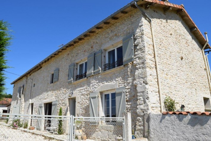 Large Country House With Swimming Pool Close To Nanteuil En Vallée. Habitable With Work Required