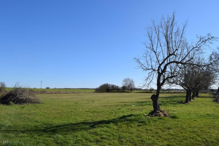 Building Plot With Country Views On Over 1 Acre Near Verteuil-sur-Charente